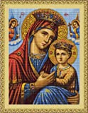 Luca-S Icon Mother and Child Counted Cross Stitch Kit