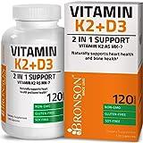 Bronson Vitamin K2 (MK7) with D3 Supplement - Vitamin D & K Complex Premium Non GMO & Gluten Free Formula, 120 Capsules