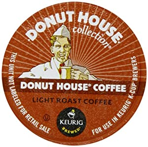Donut House Light Roast Coffee K-Cups, K-Cup Portion Pack for Keurig K-Cup Brewers (Pack of 80)