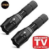 Tactical Flashlight,Wowlite 1600 LM Ultra Bright - CREE XML T6 LED Taclight As Seen On Tv with 5 Light Modes and Adjustable Focus for Emergency Camping Hiking(2 pack) (Color: 2 pack)