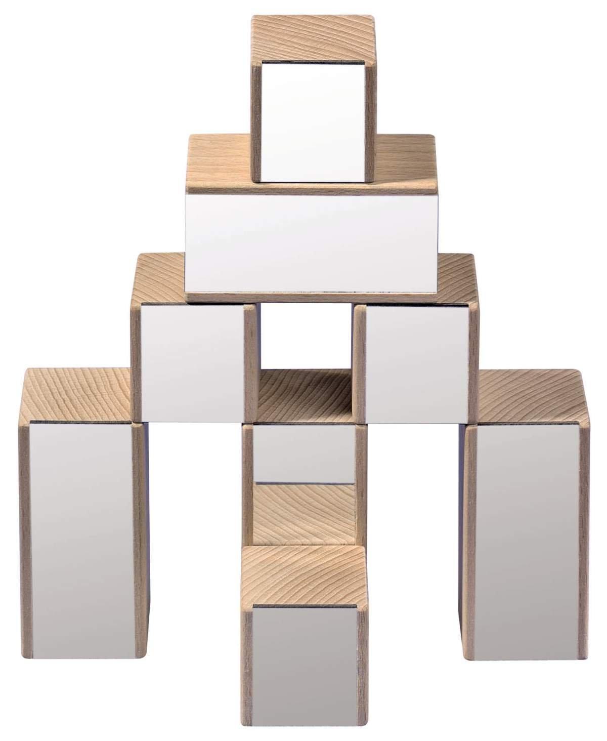 Juego de construcción con bloques de madera