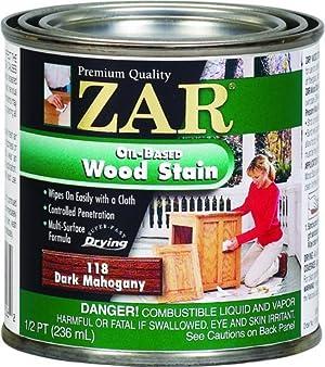 ZAR 11806 Wood Stain, Dark Mahogany