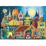 Entertaining with Caspari Christmas Pop-Up Advent Calendar, Cat Castle, 1-Count