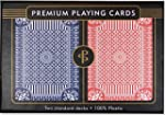 Blue & Red Premium Plastic Playing Ca...