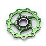 Stebcece Bicycle Mountain Chain Wheel Universal Support Bike Gearwheel Protection Cover (black) (green) (Color: Green)