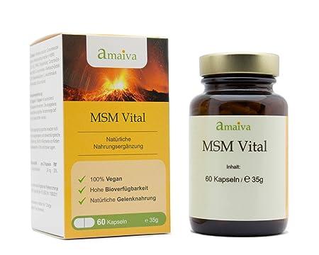 MSM Vital 3-Monatspackung (Methylsulfonylmethan-Kombination in Kapseln, höchste Qualität, hergestellt in Deutschland)