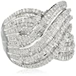 Sterling Silver Diamond Ring (1 cttw)...