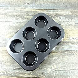 Non Stick Metal 6 Cupcake Muffin Baking Tray Chocolate Cake Mold Bakeware Mould