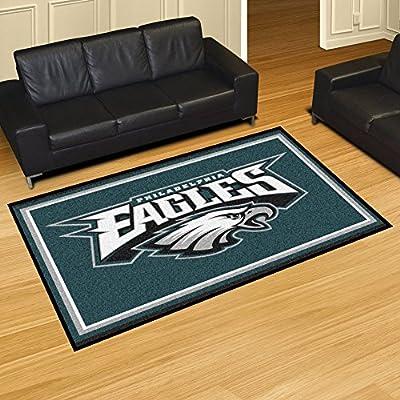 "Fan Gear Fanmats Philadelphia Eagles Chromojet Printed Rug 5x8 60""x92"" NFL-6599"