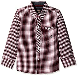 Gini & Jony Boys Shirt (121012279099 1219_Maroon_3 - 4 years)