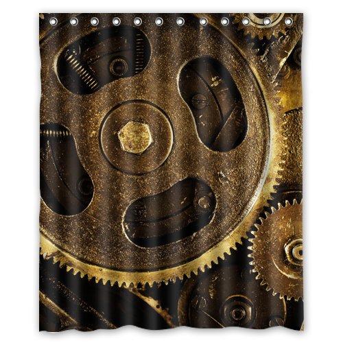 Gear steampunk picture Shower Curtain 60 x 72 Inch Bathroom