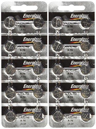 Energizer LR44 1.5V Button Cell Battery 20 pack (Replaces: LR44, CR44, SR44, 357, SR44W, AG13, G13, A76, A-76, PX76, 675, 1166a, LR44H, V13GA, GP76A