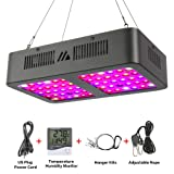 Led Grow Light, MAYGROW 600W Reflector-Series Full Spectrum LED Grow Light for Indoor Plants Veg and Flower with Veg and Bloom Double Switch (Color: Black, Tamaño: 600w)