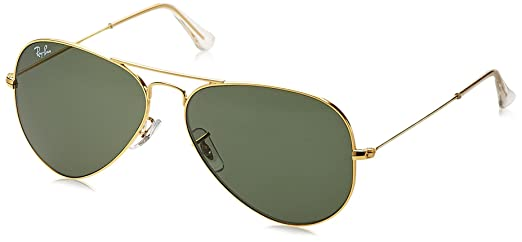 ray ban aviator rb3025 l0205  Ray-Ban Aviator Sunglasses (Gold ) RB3025 L0205 5814: Amazon.in ...