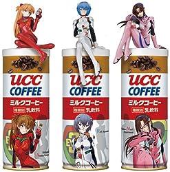 ヱヴァンゲリヲン新劇場版 UCCミルクコーヒー特製フィギュア付き 3個セット