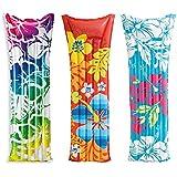"""Intex Inflatable Fashion Air Mat, 72"""" X 27"""", (Colors May Vary), 1 Pack"""