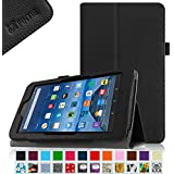 "Fintie Fire 7 2015 Case - Slim Fit Folio Premium Vegan Leather Standing Protective Cover Case for Amazon Fire 7 Tablet (will only fit Fire 7"" Display 5th Generation - 2015 release), Black"