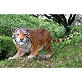 8ft Long Classic Exotic Indian Tiger Feline Wildlife Animal Home Garden Statu... thumbnail