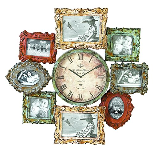 Deco 79 Metal Clock Photo Frame, 25 by 25-Inch (Clock Frame compare prices)