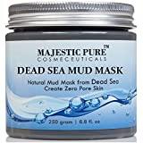 Majestic Pure Dead Sea Mud Mask 8.8 Oz - Spa's Premium Quality Facial Cleanser For All Skin Types - 100% Natural...
