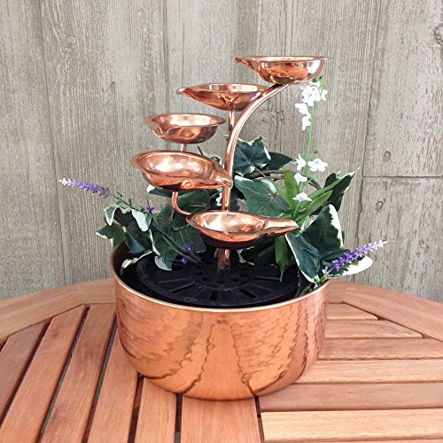 Copper Five-leaf Tabletop Fountain (Frog Tabletop Fountain compare prices)