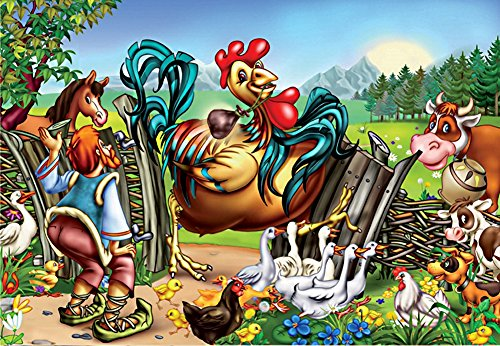 D-Toys One Giant Rooster Jigsaw Puzzle, 60-Piece