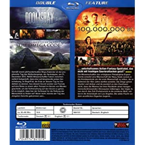Double Feature-Doomsday & 100 Million Bc [Blu-ray] [Import allemand]