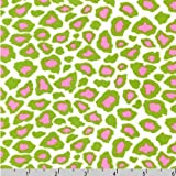 Metro Living Leopard Print Green Pink Fabric Two Yards (1.8m) EIP-11176-33 Kiwi