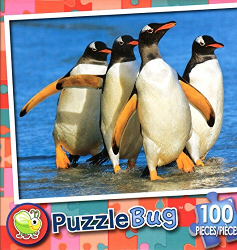 Puzzlebug 100 Piece Puzzle ~ Gentoo Penguins, Falkland Islands - 1