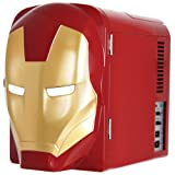 Marvel Ironman Mini Fridge, Red/Gold, 4 L (Color: Red/Gold, Tamaño: 4 L)