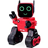 Costzon Wireless Remote Control Robot, RC Robot Toy Senses Gesture, Sings, Dances, Talks, and Teaches Science Robot Smart for Kids (Red) (Color: Red, Tamaño: 6.5''x6''x10(LxWxH))
