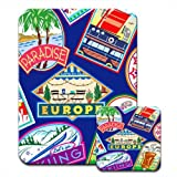 Stickers of The World Paradise Europe Travel Premium Mousematt & Coaster Set