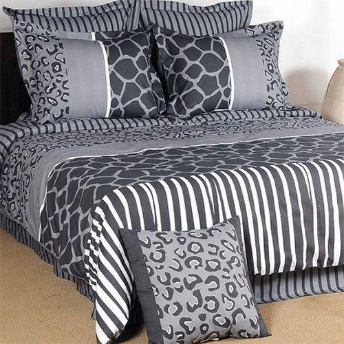 Grey Bedroom Boys Zebra Print Bedroom Ideas For Adults Bedroom Ceiling Soffit Bedroom Decor Gray: Black And Cream Bedding Grand Sales: 7pcs Animal Print