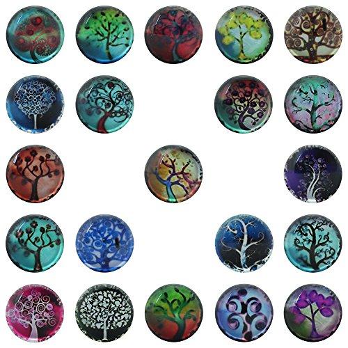 soleebee-resina10-fare-clic-pulsante-unisex-pulsante-tasti-di-tondo-alberi-modello