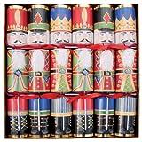Caspari 12.5-inch Christmas Crackers, Box of 6, Nutcrackers