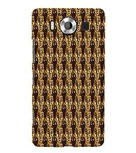 Brownish Women Pattern 3D Hard Polycarbonate Designer Back Case Cover for Nokia Lumia 950 :: Microsoft Lumia 950