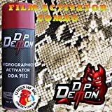 Combo Kit Black and Tan Snake Skin Hydrographic Water Transfer Film Activator Combo Kit Hydro Dipping Dip Demon (Tamaño: 16oz Can of Activator + 20