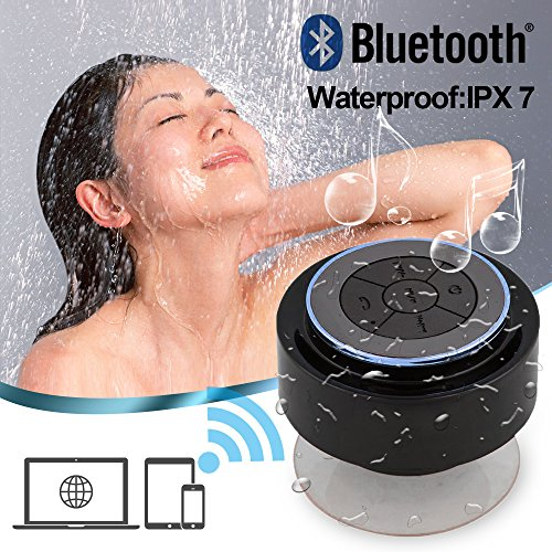 Kinglake Latest Brand New Exquisite Ip67 Waterproof Mini Bluetooth Shower Speaker Enhanced Bass Audio Crystal Clear Sound With 8 Hours Playtime Built-In Microphone Hands-Free Phone Calling And Answering With Suction Cups For Smart Phones Ipad Tablets Mp3