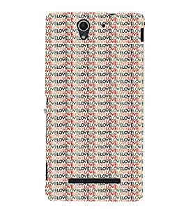 Animated Pattern With Lovely 3D Hard Polycarbonate Designer Back Case Cover for Sony Xperia C3 Dual :: Sony Xperia C3 Dual D2502