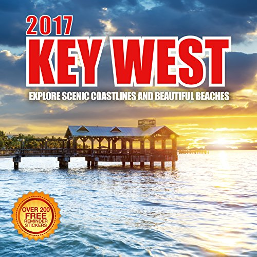 2017 Key West - 12 x 12 Wall Calendar - 210 Free Reminder Stickers (Personal Photo Calendar compare prices)