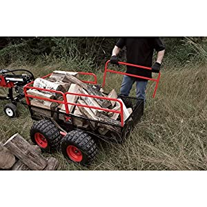 Yutrax TX159 Black/Red Trail Warrior X4 ATV Utility Trailer from Yutrax