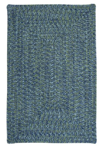 Catalina Polypropylene Braided Rug, 2-Feet by 3-Feet, Deep Sea