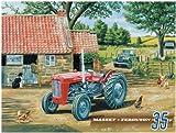 Massey ferguson tracor tracteur large et stable en tôle neuf s2474 40 x 30 cm