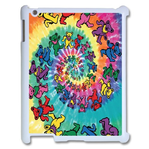 Generic Cell Phones Cover For Apple Ipad 3 Case Ipad 2 4 Case Customize Music Band Grateful Dead And Dancing Bears Hard Snap On Phone Cases front-1004098