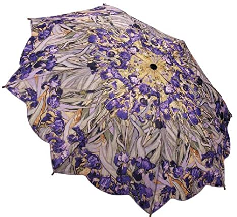 Galleria Van Gogh Irises Auto Open/close Super-mini Umbrella