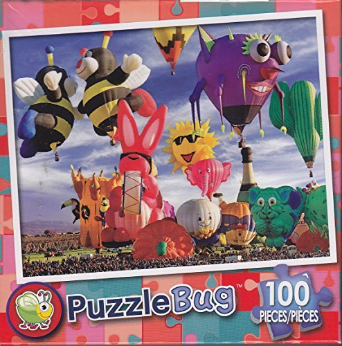 Puzzlebug 100 Piece Puzzle ~ Funky Shapes Hot Air Ballons AT Albuquerque Festival