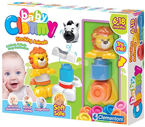 Clementoni Clemmy Lion and Zebra Stacking Animals Toy Figure