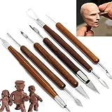 6pcs/Set Pottery Tools Clay Pottery Tools Sculpture Plasticine Carving Tool Set
