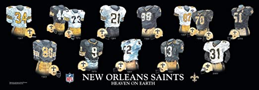 New Orleans Poster Art New Orleans Saints Uniform Art