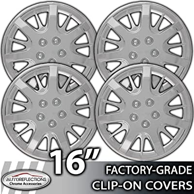 2000-2007 Chevy Impala 16 Inch Silver Metallic Clip-On Hubcap Covers